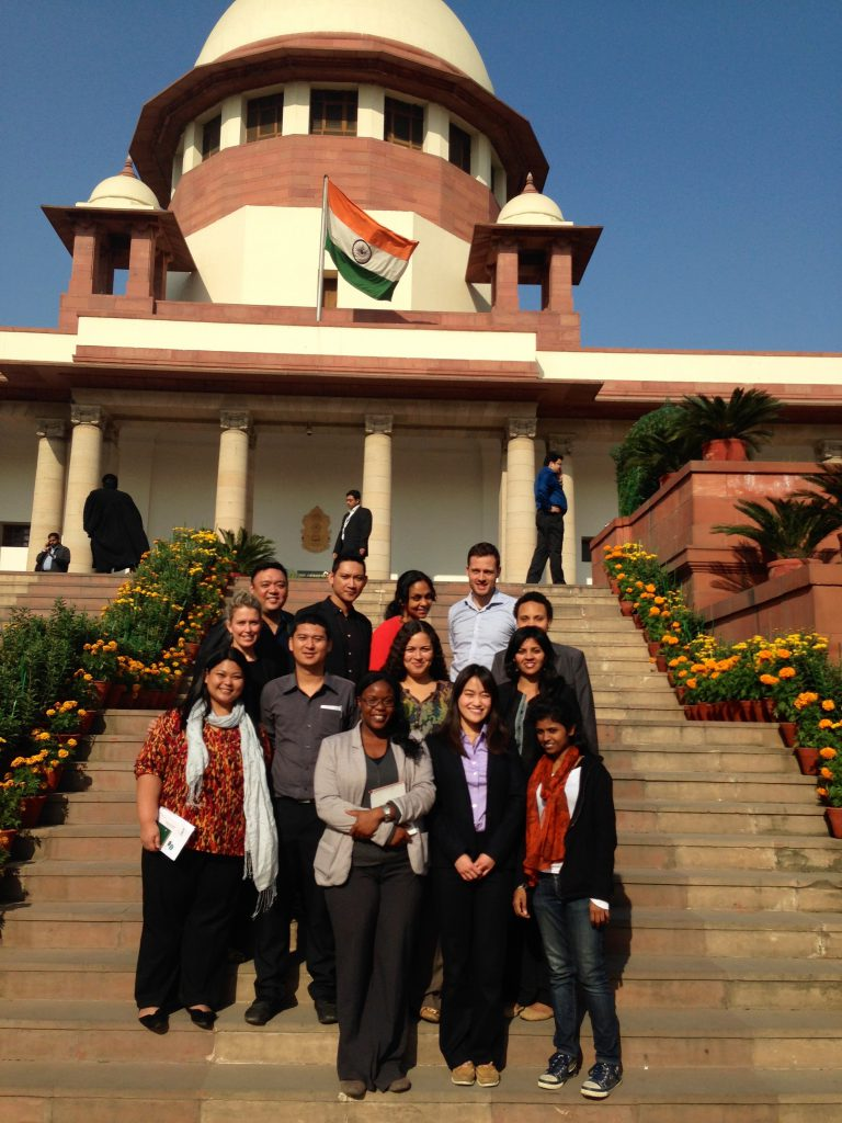 Bertha Fellows Outside Supreme Court, India