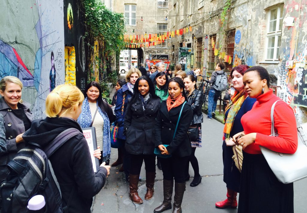 Bertha fellows on a guided tour in Berlin
