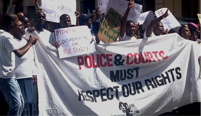 March to support the court case against the Minister of Police, picture: SJC