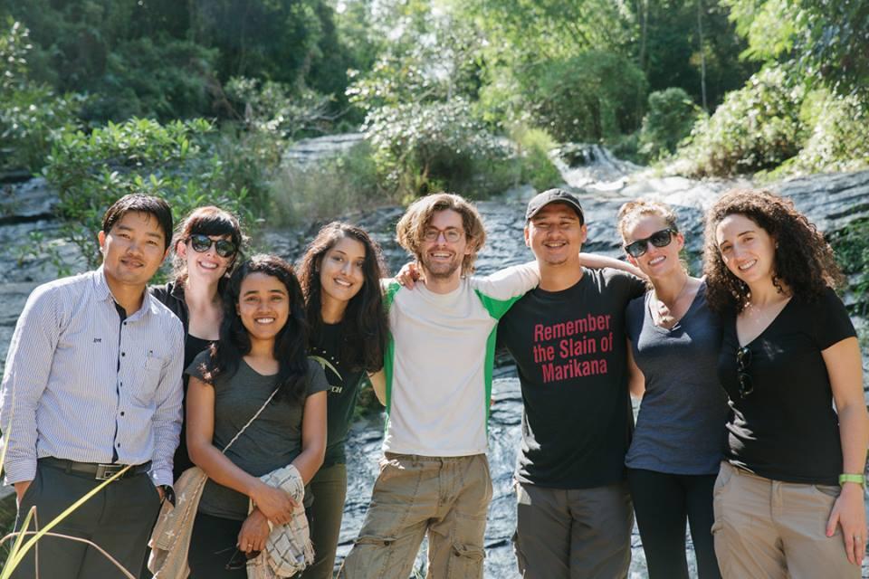 "From left: Lum Ja (Myanmar), Katherine McDonnell (US), Than Than Aye (Myanmar), Upasana Khatri (US), Sean Powers (US), Thornthan Kanmangmee (""Neung"") (Thailand), Michelle Harrison (US), Camila Mariño (Peru)"