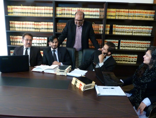 Lawyers of the Foundation for Fundamental Rights discussing the case