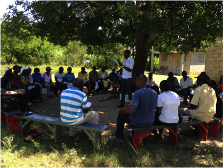 BAI lawyers discuss cholera advocacy with affected communities.