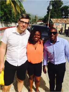 2015 IJDH Ella Baker Legal Fellows in Lascahobas, Haiti located in the region where cholera first broke out.