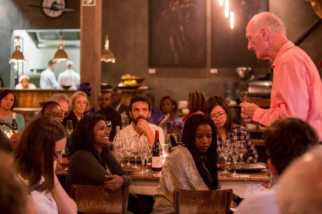 """Justice Edwin Cameron addressing the Bertha Justice Initiative """"Be Just"""" Fellows and Alumni at the Bertha Justice Initiative Global Convening in South Africa (March, 2016)"""