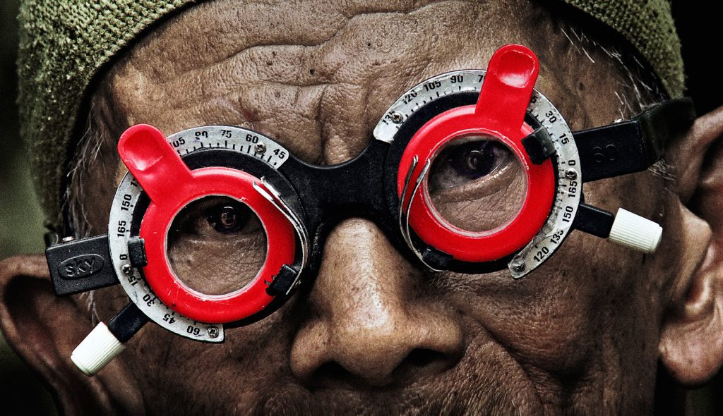 "A scene from Joshua Oppenheimer's documentary ""The Look of Silence."" Courtesy of Drafthouse Films and Participant Media."