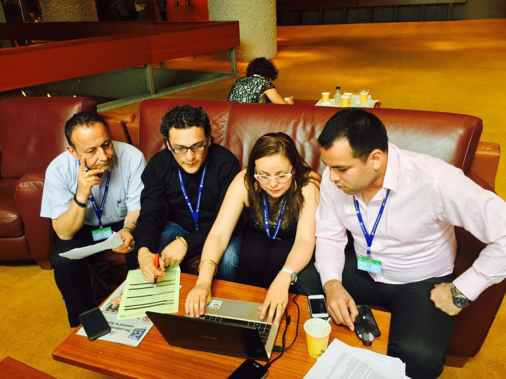 Yessika Hoyos and fellow lawyers