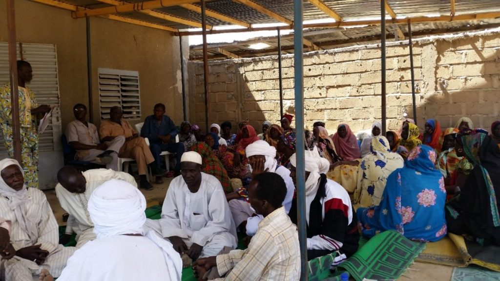 ISLP volunteer expert Barry Ward attends a meeting of the Association of Victims of the Crimes of the Hissene Habre regime in January 2015