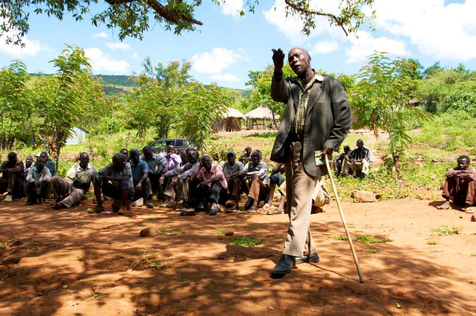 ISLP participates in a meeting with community leaders in Kerio Valley, Kenya