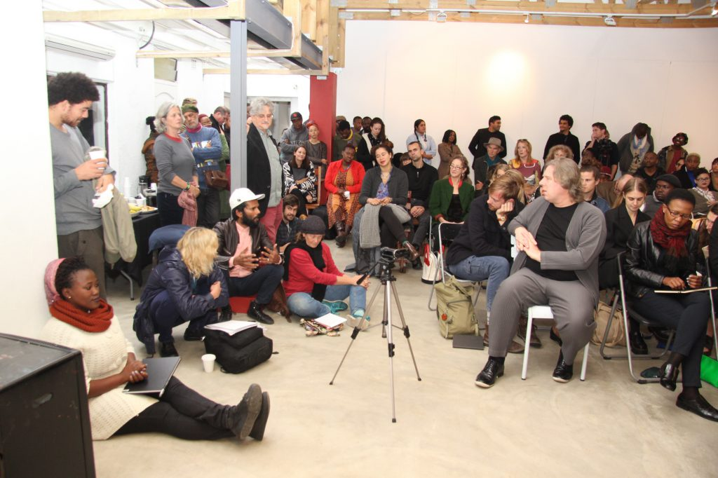 Discussions at Greatmore Studios, Woodstock, Cape Town